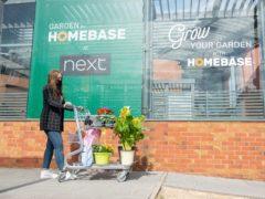 Shoppers at new Homebase section at Next, Camberley, Surrey (Homebase/PA)