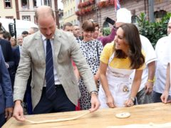 The Duke and Duchess of Cambridge attempt to make pretzels in Germany (Chris Jackson/PA)