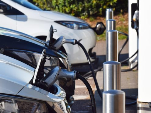 The number of charging points at motorway service stations varies wildly