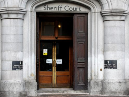 The case is being heard at Aberdeen Sheriff Court (Andrew Milligan/PA)