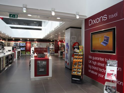 A Dixons Travel shop (Dixons/PA)
