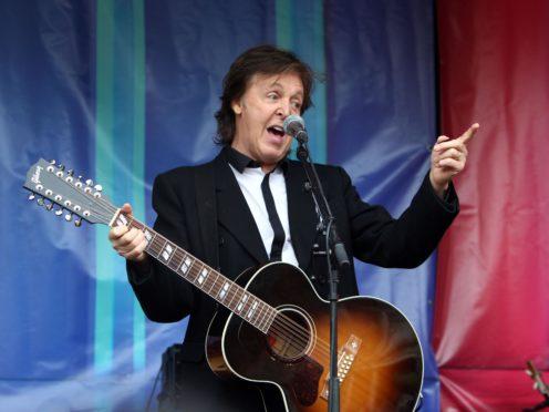 Sir Paul McCartney (Steve Parsons/PA)