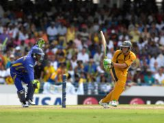 Adam Gilchrist starred with the bat in Barbados ((Rebecca Naden/PA)