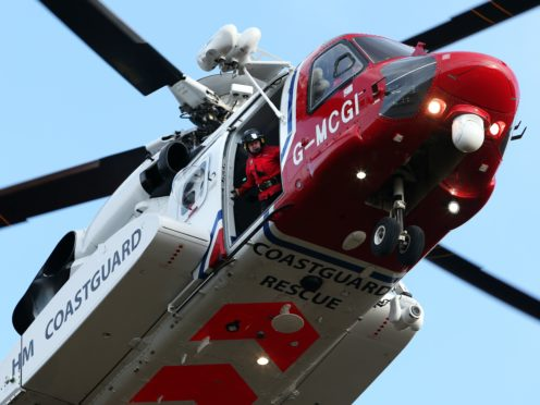 The man was rescued by helicopter (Andrew Milligan/PA)