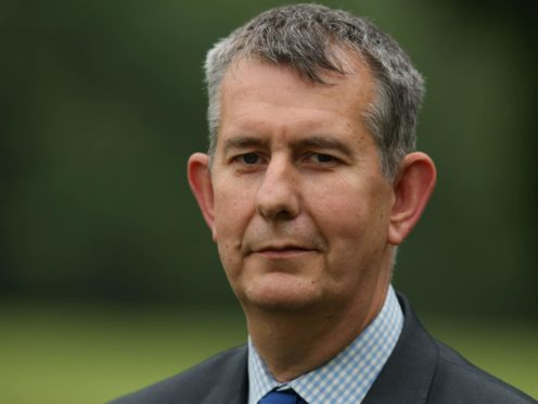The DUP's Edwin Poots speaks to the media outside Stormont Castle (Niall Carson/PA)