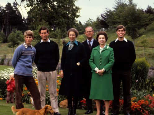 The Duke of Edinburgh and the Queen and their children in 1979 (PA)