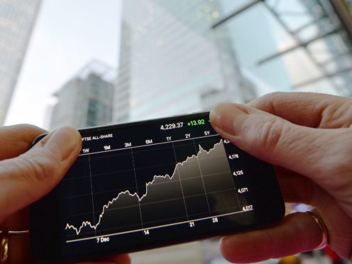 Share prices gained after economic data from China (John Stillwell/PA)