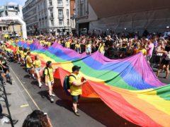 A parade in central London (John Stillwell/PA)