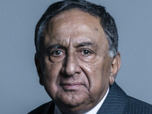 Lord Sheikh said the contribution of Muslims to the British Armed Forces has been 'undervalued' (Chris McAndrew/UK Parliament/PA)