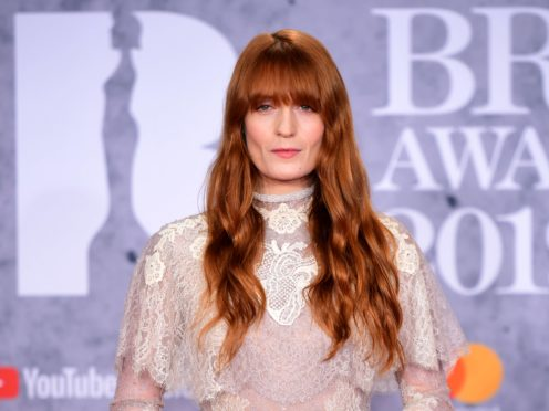 Pop star Florence Welch will write the music and lyrics for a stage adaptation of The Great Gatsby (Ian West/PA)