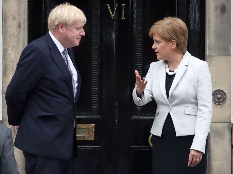 Scotland's First Minister Nicola Sturgeon said alleged comments by Prime Minister Boris Johnson are 'shameful' (Jane Barlow/PA)