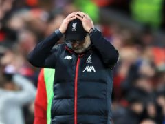 Jurgen Klopp's Liverpool have lost their last six games at Anfield (Peter Byrne/PA)