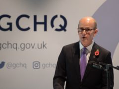 Director Jeremy Fleming at an event to mark 100 years of the Government Communications Headquarters (GCHQ), at the National Memorial Arboretum in Alrewas, Staffordshire.