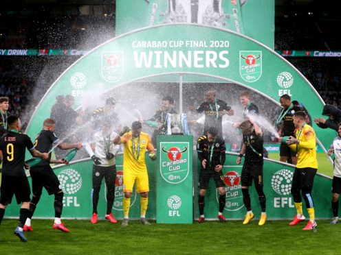 Manchester City are heading back to Wembley bidding for a fourth-successive Carabao Cup win (Mike Egerton/PA)