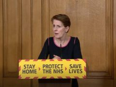 Screen grab of medical director at Public Health England Professor Yvonne Doyle during a media briefing in Downing Street, London, on coronavirus (PA Video/PA)