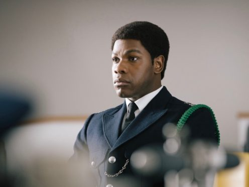 John Boyega as police officer and anti-racism reformer Leroy Logan in Sir Steve McQueen's anthology series Small Axe (BBC/PA)