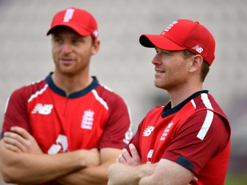 Jos Buttler (left) and Eoin Morgan are among the players in India (Dan Mullan/PA)