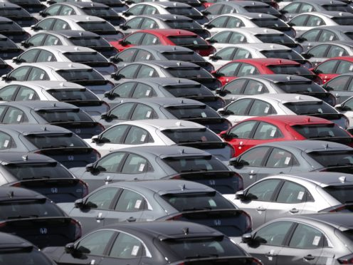 The trade body reported that 115,498 cars were built in March (Andrew Matthews/PA)
