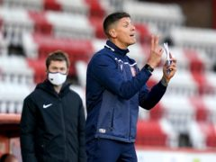 Stevenage manager Alex Revell made a couple of changes to the starting XI at Cambridge (John Walton/PA)