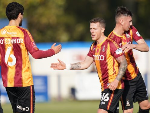 Billy Clarke could return for Bradford (Tess Derry/PA)