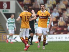 Declan Gallagher, right, is focused only on Motherwell (Steve Welsh/PA)