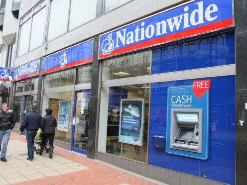 A branch of Nationwide Building Society in 2013. First-time buyers with deposits as low as 10% will be able to borrow five and-a-half times their income when taking out a longer-term mortgage, Nationwide said (Paul Faith/PA)