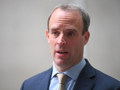 Foreign Secretary Dominic Raab said the Government will introduce Magnitsky sanctions to tackle dirty money (Victoria Jones/PA)