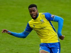 Solihull Moors' Tyrone Williams scored his first goal for almost two years in the 2-0 win at Barnet (Barrington Coombs/PA)