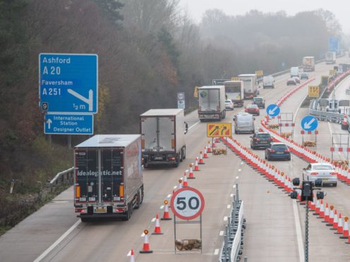 A permit required by lorry drivers entering Kent after the end of the Brexit transition period has been scrapped (Dominic Lipinski/PA)