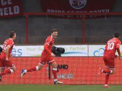 Jordan Tunnicliffe, centre, opened the scoring (Adam Davy/PA)