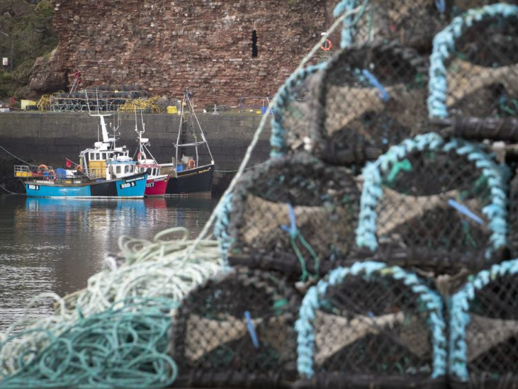 Fishing boats moored in Dunbar Harbour, East Lothian (Jane Barlow/PA)