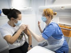 There were 31,230 coronavirus vaccines administered on Saturday (Jane Barlow/PA)