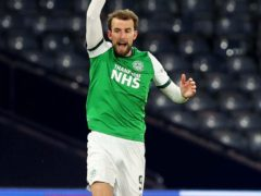 Hibernian's Christian Doidge scored two against Queen of the South (Jeff Holmes/PA)