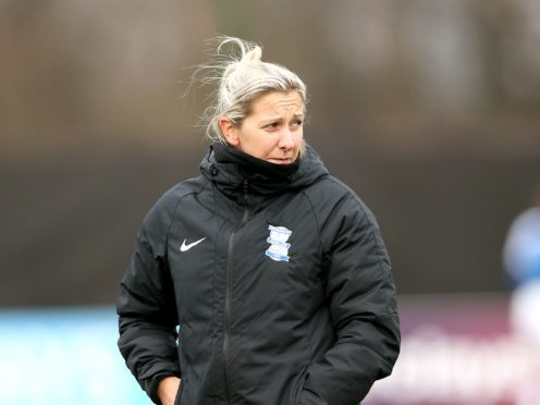 Birmingham City Women's manager Carla Ward only had 11 members of her squad in full training ahead of a derby clash (Tim Markland/PA)