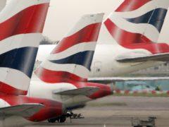 British Airways owner IAG was one of Monday's biggest winners (Tim Ockenden/PA)