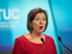 Frances O'Grady, general secretary of the TUC, says survey shows support for government action on workers rights (Stefan Rousseau/PA)