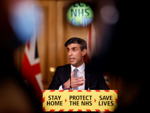 Chancellor Rishi Sunak has borrowed billions of pounds to help prop up the economy during the Covid pandemic (Tolga Akmen/PA)