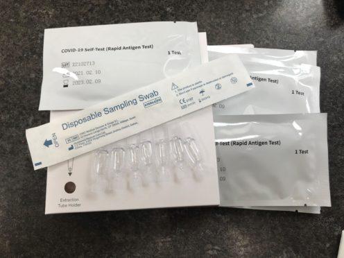 Covid-19 self-testing kits (Zoe Linkson/PA)