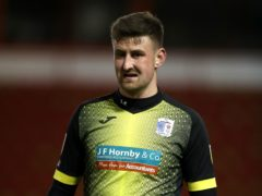 Scott Quigley scored in stoppage time as Barrow beat Exeter (Nick Potts/PA)