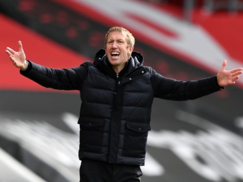 """Boss Graham Potter says he would go """"insane"""" by thinking how many points Brighton need for Premier League survival (Glyn Kirk/PA)"""