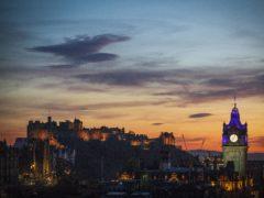 Edinburgh Castle recorded a drop of 87.2% in visitors, figures showed (Jane Barlow/PA)