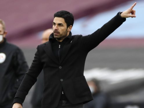 Mikel Arteta wants to see his Arsenal side play their own way against Liverpool on Saturday (Paul Childs/PA)