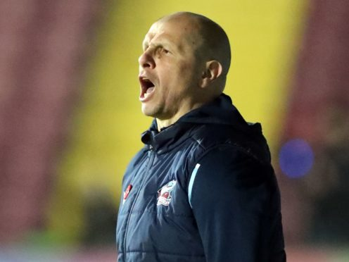 Scunthorpe manager Neil Cox has a long injury list to contend with ahead of Walsall's visit (Danny Lawson/PA)