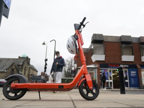 Electric scooters are being used in hundreds of offences, according to police data (Owen Humphreys/PA)