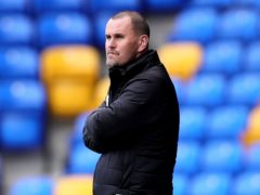 Mark Robinson refused to criticise his goalkeeper (Aaron Chown/PA)