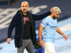 Pep Guardiola, left, has said Manchester City may not sign a replacement striker for Sergio Aguero (Alex Livesey/PA)