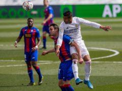 Real Madrid battled to victory over Eibar (Bernat Armangue/AP)