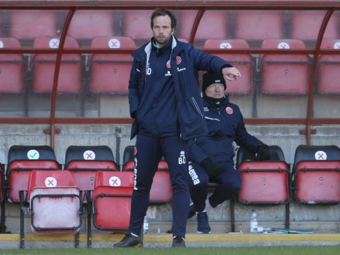 Walsall manager Brian Dutton saw his side beat Forest Green at the weekend (Yui Mok/PA)