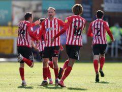 Aiden McGeady (centre) celebrates scoring the equaliser (Zac Goodwin/PA)