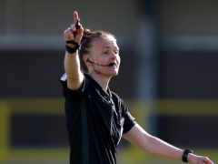Rebecca Welch became the first woman to referee an EFL game (Nigel French/PA)